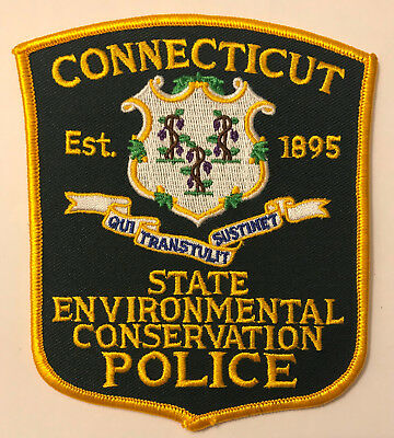 Connecticut Environmental Conservation CT DEP State Police Sheriff Patch