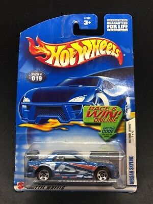 Hot Wheels 2002 Nissan Skyline GT-R R32 Blue JDM Import Rare HTF First Edition