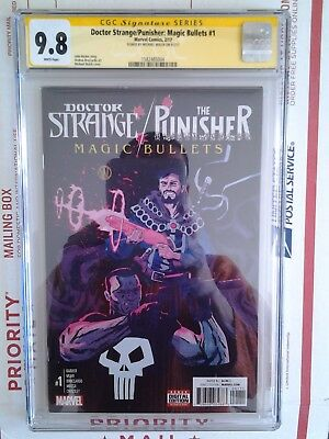 Doctor Strange The Punisher Magic Bullets #1 Cgc Ss 9.8 Signed By Michael Walsh