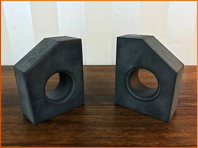 Vintage Heavy Slate Book Ends Stone Modern Mid Century Style Bookends Interior