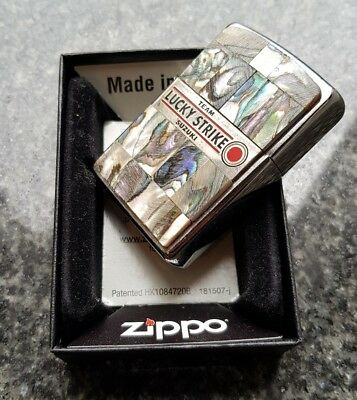 Zippo, Lucky Strike, Mother Of Pearl Custom Lighter (Extremely Rare)