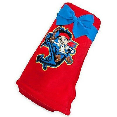 """DISNEY STORE JAKE AND THE NEVER LAND PIRATES FLEECE THROW BLANKET 60""""x50"""" NEW"""