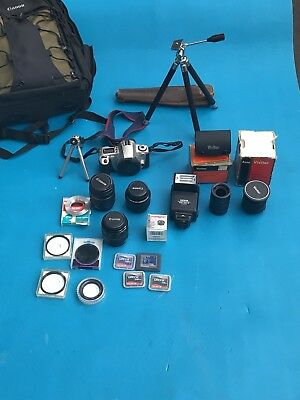 Canon Huge Vintage Canon Camera Lot - With Lens's And Bag