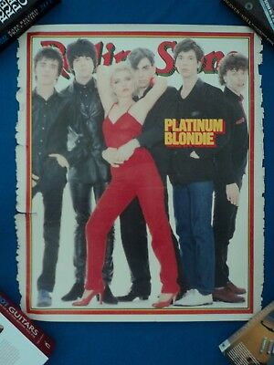 Rare Original Blondie Poster based on classic Rolling Stone Front Cover 1979