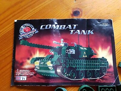 Mega Bloks Pro Builder 9097 Combat Tank Complete With Instructions