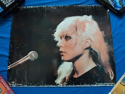 Rare Original Blondie Poster Debbie Harry by Rob Taussig for Phoenix Mags 1970's