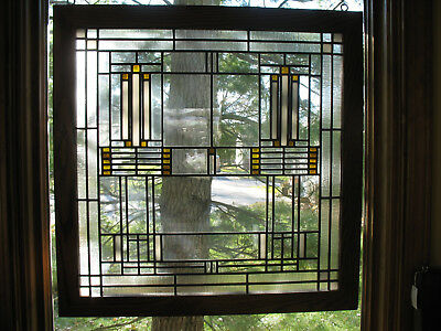 Prairie Style Stained Glass Window ( Pair Available)