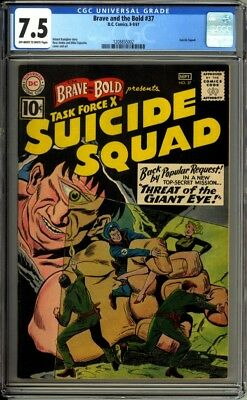Brave and the Bold 37 CGC Graded 7.5 VF- Suicide Squad  DC Comics 1961