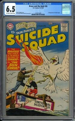 Brave and the Bold 26 CGC Graded 6.5 FN+ Suicide Squad  DC Comics 1961