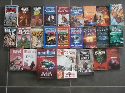 A Collection of 25 Science Fiction and Fantasy Paperback Books