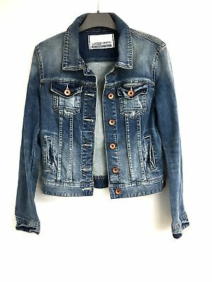 New Women's Vintage Superdry Blue denim Jacket Size Small RRP £60 #880