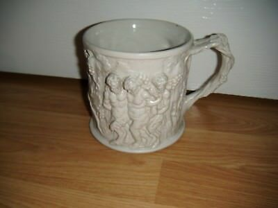 Antique Minton Large Bacchus Parian Tankard ~ Bacchanalian Scene ~ Very Good Con
