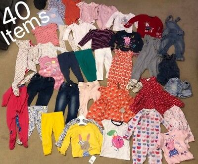 12-18 Months Baby Girls Bundle - 40 Items - Next, M&S, Mothercare, Gap, John Lew