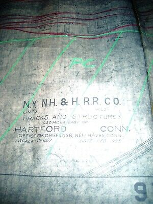 NYNH&HRR BLUE PRINT Hartford Yard  and Structures 1946 - 1955. 72'' x 20''