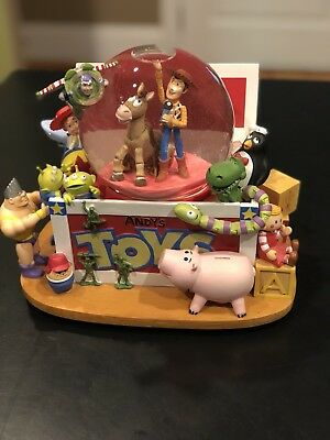 Disney Toy Story Andy's Toy Box Snowglobe Plays You Got A Friend in Me Lights Up