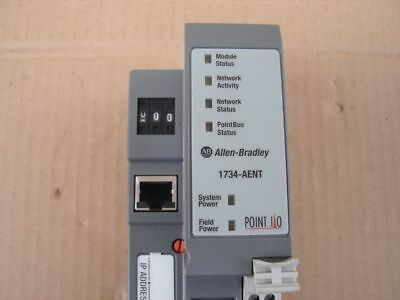 New Allen Bradley 1734-AENT Ser.A Point I/O Ethernet Network Adaptor
