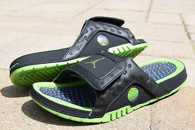 outlet store 02fda 556f6 NIB! NIKE AIR Jordan Hydro XIII Retro Slides 684915 025 sz 8-13 Black Green