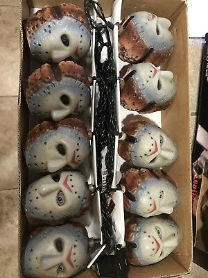 Set Of 2 Rare New Head Lites Hand painted Horror Leatherface & Jason Great Deal
