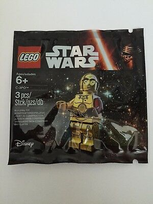Brand New Sealed Genuine Lego Star Wars C-3PO C3PO Red Arm 5002948 Polybag