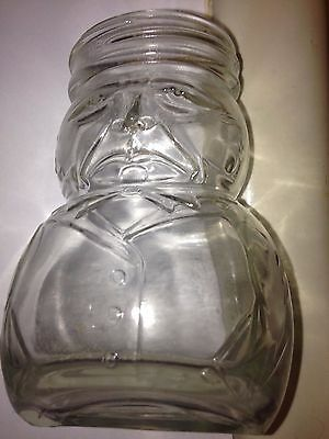 Vintage Figural Bottle,Tilted,Fat Unhappy Man With Frown