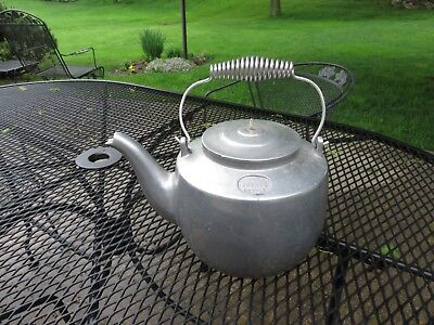 Vintage Chas. E Hagy Co Cast Aluminum Hudson Tea Kettle Hudson, Ohio LOOK