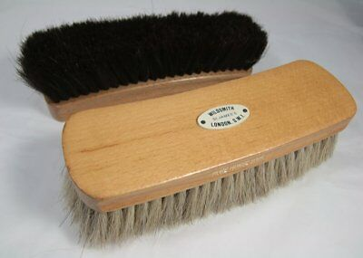 Pair Vintage Wildsmith Wooden Pure Horse Hair Brushes