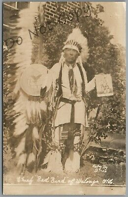 "Watonga, Oklahoma - Chief ""red Bird"" - Dillon 1948 P/u Rppc Postcard"