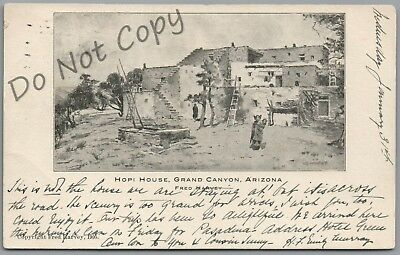 Fred Harvey, Hopi House, Grand Canyon, Arizona Cancel 1906 P/u U/b Postcard