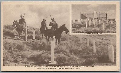 Burlington Train Route, Montana Custer Battlefield, Crow Indian, Postcard