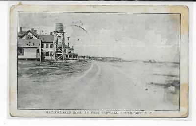 North Carolina NC Southport Fort Caswell Macadamized Road water tower 1910