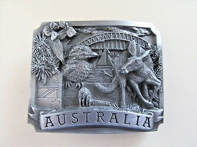 Vintage Australia Pewter Belt Buckle - Advance Australia Fair - 1990 - A-690