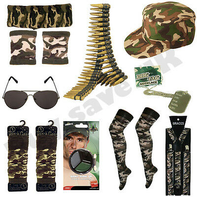 Army Military Fancy Dress Costume Accessories Mens Ladies Hen Stag Night