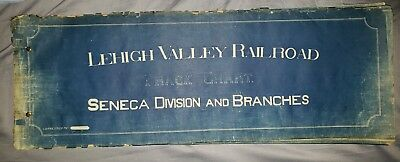 Lehigh Valley Railroad Seneca Division Mainline and Branches 1931 Track Chart