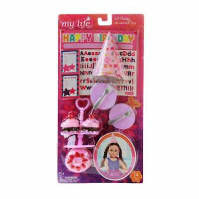 My Life As Play Set - New - 14 Piece Birthday Accessories Set