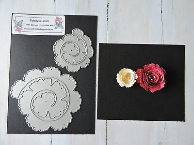 Craft Metal Die compatible to use with Cuttlebug or Sizzix - Make Up Flowers