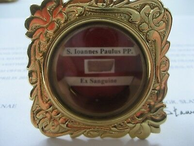 Priest owned St. Pope John Paul II 1st class relic of his wounds with COA