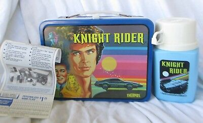 Unused Vintage KNIGHT RIDER 1982 Universal City Lunchbox with THERMOS TV Series