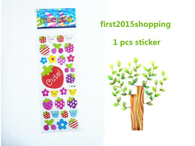 Hot Sticker 1pc Cartoon Stickers 3D Strawberry PVC Lot Craft Kid Party Toy Gift