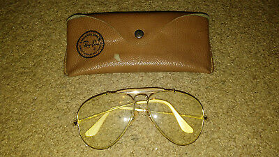 Vintage Ray Ban Aviator Prescirption Glasses With Ray-Ban Case