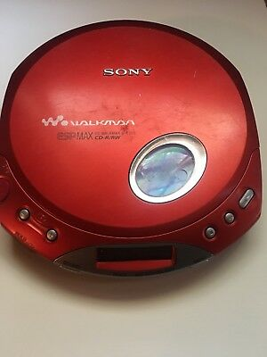 SONY CD Walkman D-E350 Great Condition-RED-Fully Tested
