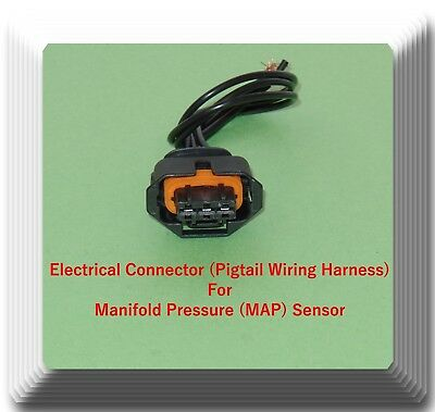 MAP 3 Wires Electrical Connector of Manifold Pressure Sensor AS17 Fits GM