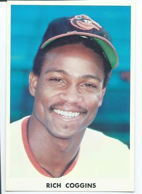 Rich Coggins, Baltimore Orioles outfieldr, 1973-74 Team Issued Chrome Blank Back