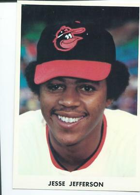 Jesse Jefferson, Baltimore Orioles pitcher, 1973-74 Team Issued Chrome BlankBack