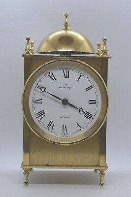 HAMILTON Vintage mantle clock. Electric. Brass. Running. Swiss case.French mov't