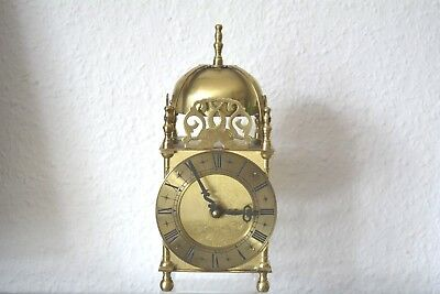 SMITHS Vintage Lantern clock. Made in Great Britain. Brass