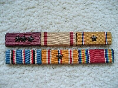 Half Inch Wide Navy Ribbon Bars, Mustang Who Served 1925 - 1955, Researchable