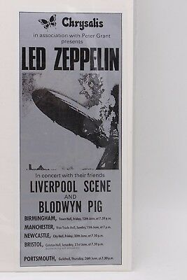 Led Zeppelin With Liverpool Scene And Blodwyn Pig Postcard