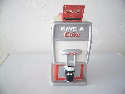 new in plastic wrapping 2002 coca-cola fountain cookie jar