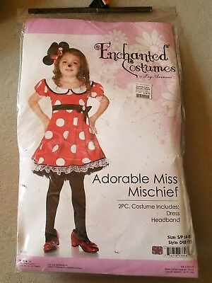 O NEW Child Enchanted Costumes Adorable Miss Mischief Halloween Costume Size S