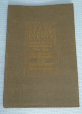 Booklet, State Street Bank Trust Events 25th Anniversary Boston MA (1916)